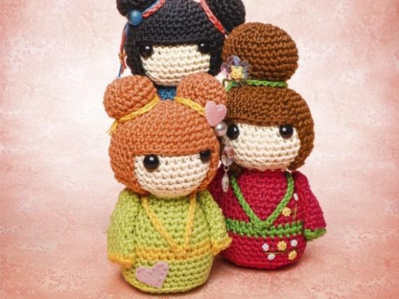 Cute Kawaii Amigurumi Patterns : Japanese Geisha girls amigurumi pattern a by AmigurumiBarmy