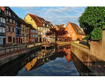 Fine Art Color Travel Photography of La Petite Venise in Colmar France