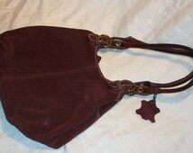 Vintage Beautiful Lord and Taylor Genuine Leather Purse Maroon Plum Color