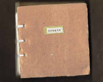 """HANDMADE """"CREATE"""" JOURNAL kit suitable for all journalling, crafting and scrap booking."""