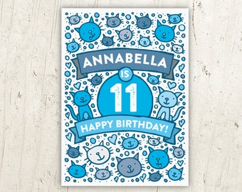 Cats Illustrated Birthday Card