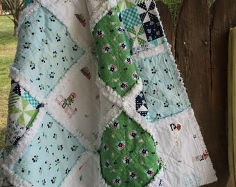 Napping Quilt | Chenille Rag Quilt, Country Girl