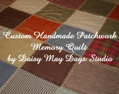 Custom Memory Quilt,From Your Loved Clothing, Flannel Cotton or Any Fabric, Throw Size, Patchwork, Warm