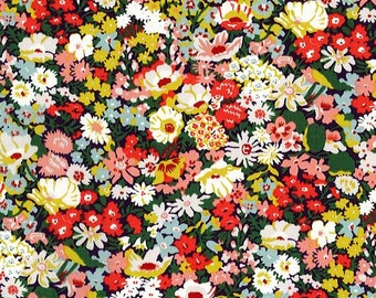 Liberty tana lawn  printed in Japan -  Thorpe -   10cm length - Minimum Purchase 30cm