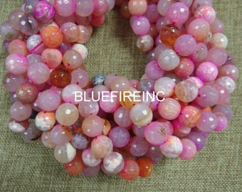 32pcs multi color fired agate beads in 12mm