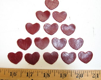 Leather die cut hearts 25 PC. H1