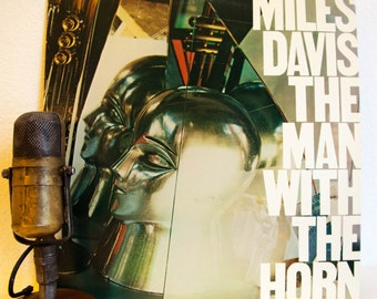 "ON SALE Miles Davis Vinyl Record Album LP 1980s Jazz Rock Funk Fusion Post-Bop ""The Man With The Horn"" (1981 Cbs w/Al Foster,Bill Evans,Mike"
