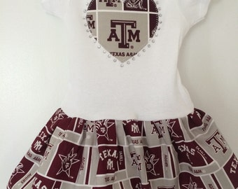 Texas A & M Inspired Infant Dress