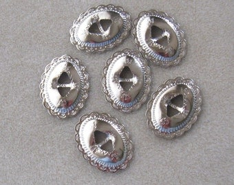 Bright Silver Conchos, Western Wear, Conco Finding, Jewelry Supply, Hat Boot Hair, Bolo Tie, Craft Supply, Jewelry Making,  New Design,  (1)