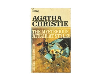 1974 Pan Paperback. The Mysterious Affair at Styles, by Agatha Christie. 1970s. Book. Books. Hercule Poirot Mystery. Crime. Fiction.