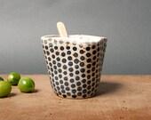 vase danish unique keramik dots ceramics handmade by eeliethel scandinavian studio pottery decor poterie polli pots