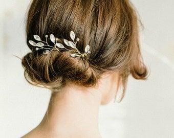 Grace | Crystal bridal hair pins, sparkle hair pins, marquise crystal pins, elegant hair pins, wedding hair pins,swarovski crystal hairpins
