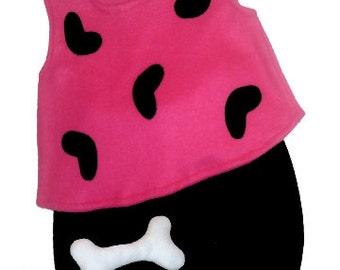 Ready To Ship 12/18M Flintstones Pebbles Halloween Costume Set Boutique PAGEANT Pink Black