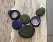 Reserved listing for LISA KODEK. Olive green necklace. Tagua nut jewelry. Olive and purple necklace. Sela Designs .