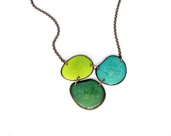 CUSTOM ORDER for Lynnsey. Turquoise Necklace. Tagua nut jewelry. Tagua necklace. Green necklace. Blue Necklace. Sela Designs