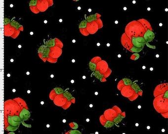 Loralie Designs Sew Fabulous Pin Dots Black fabric - 1 yard