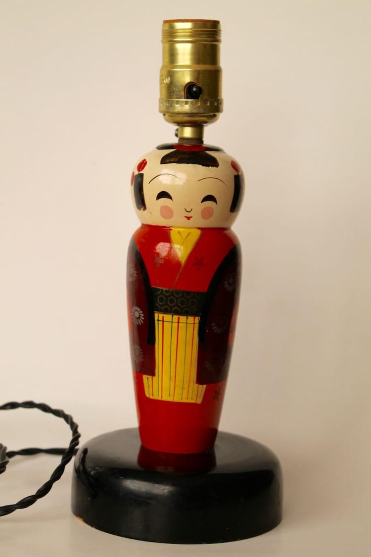 usa 1950 unesco lamp Asian