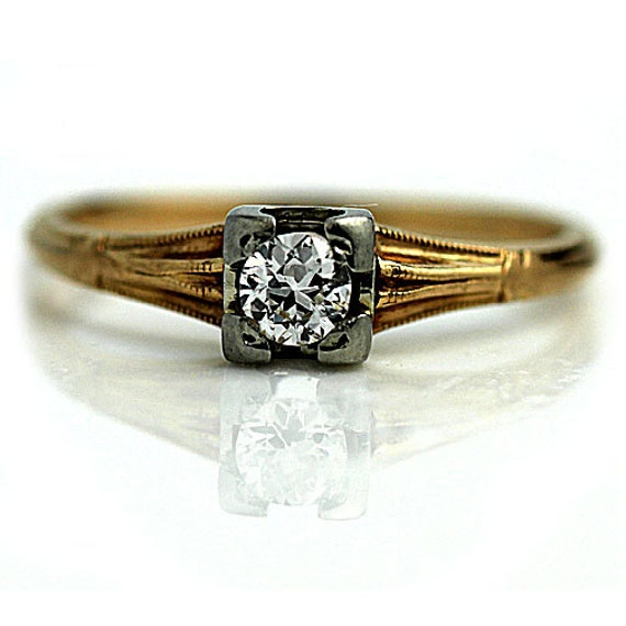 antique engagement ring deco promise ring 25ctw