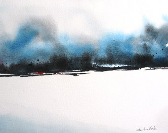 Monsoon 2 - Original Watercolor Painting