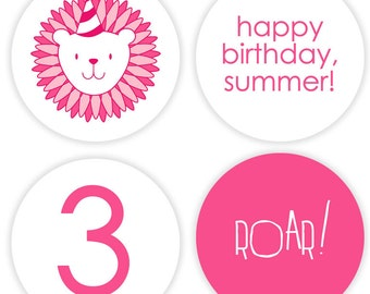 Zoo Party #Stickers, Gift #Tags OR Cupcake #Toppers