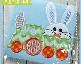 Big Bunny Train Digital Applique Design