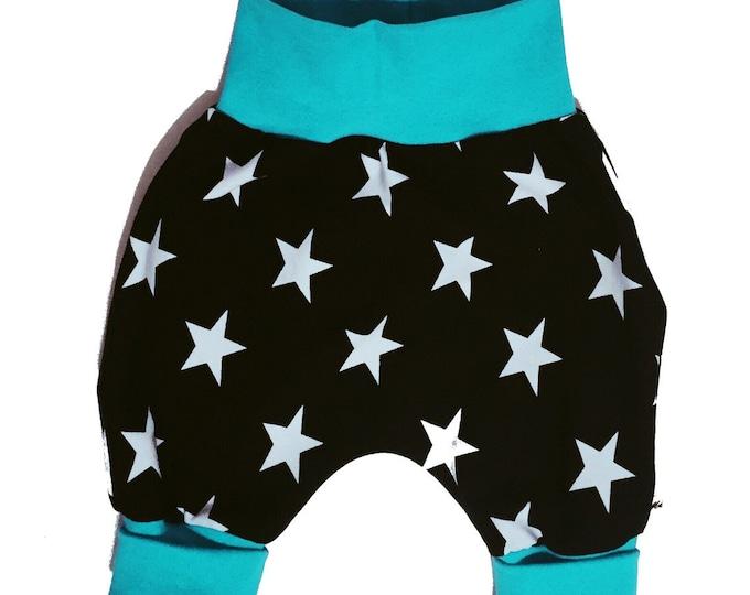 Baby kids toddler girl boy clothing harem pants baggy pants sweat pants GREEN. Size preemie - 3 y