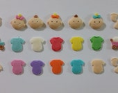 25 Piece Baby Set of Edible fondant Cake/Cupcake Toppers