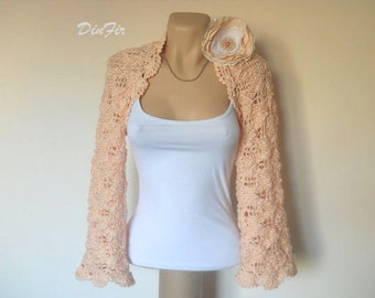 LIQUIDATION Stock SALE 30% OFF Bolero Shrug Wedding Bridal Accessories Chic Hand Knitted Gift Women Crochet Elegant Jacket Cardigan Capelet