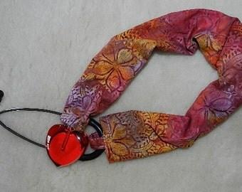 Flower Batik Stethoscope Sock