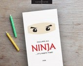 NINJA BIRTHDAY PARTY Invitations // Printable Birthday Invitations // Digital Birthday Invitations