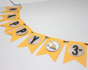 Construction party banner - construction birthday, construction party, construction banner, construction baby shower, dump truck
