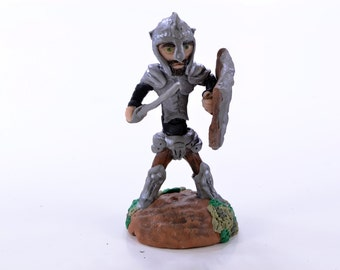 Standing Warrior - Original OOAK Polymer Clay Figurine - Cake Topper, Shelf or Desk Ornament or a Great Gift - Free US Shipping