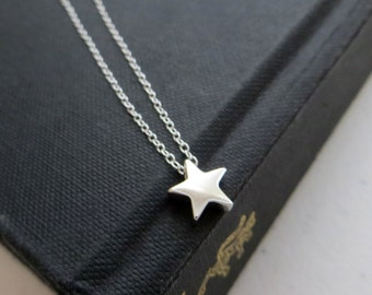 tiny Star necklace // sterling silver tiny star charm // nymetals