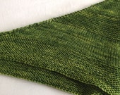 Jade Green Hand Knit Shawl