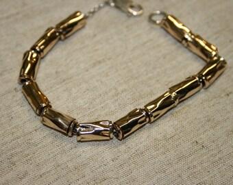 Gold Bracelet ,  Sterling Bracelet , Goldfield Beads Bracelet , Handmade Bracelet, Beads Bracelet,