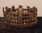 Gold Unisex Fun Crown King Queen