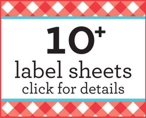 SAVE money on 10 or more sheets of canning jar labels with this listing only, bulk canning labels stickers, discount canning labels