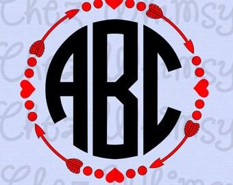 Arrows SVG Designs Cutting Files Arrow Monogram SVG Designs Circle Arrow Cutting Files Follow Your Dreams Design with Arrow