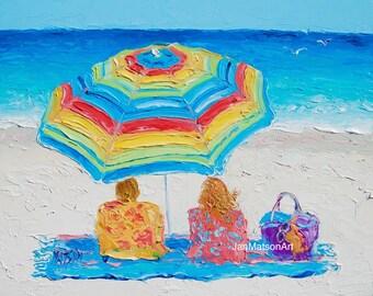 Strand Von Malerei GERAHMT Dekor Tropische Art Kunst Etsy