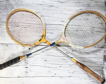 Vintage Badminton Racquets, Two