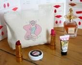 Cute Pin Up Girl Make Up Bag