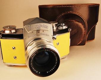 Ihagee EXAKTA VX 35mm German camera, Biotar 58mm lens, case. Custom skin