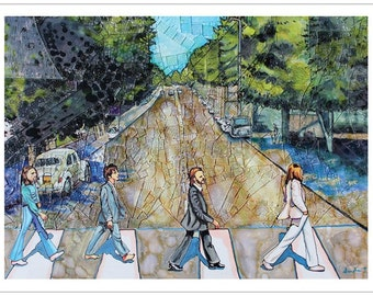 Poster of original Abbey Road painting