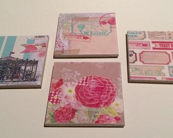 Ceramic Coasters - Set of 4 - Summer Fair Series 1