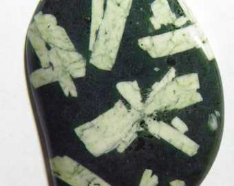 Chinese Writing Rock Designer Cabochon (F-052)