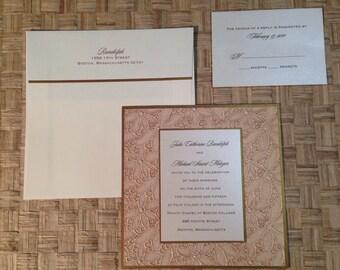 FA201604, Fifth Avenue Collection, Wedding Invitations, Couture Invitations, Custom Invitations, Save the Dates, Menus, Wedding Programs