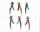 Mome Raths Plant and Garden Stake (set of 6) Alice in Wonderland