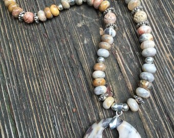 Natural Stone Necklace with Pendant