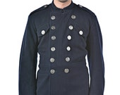 1960's REDESIGNED/ REVAMPED British Fireman's MILITARY Style Vintage Wool Jacket / Tunic by Top Rank Vintage