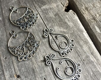 Sterling Silver Chandelier Earring Finding Sterling Silver Jewelry Supply